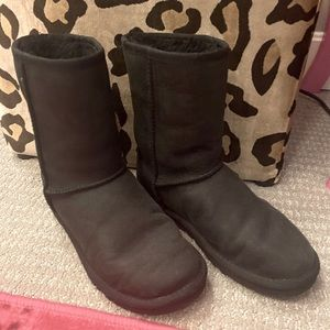 Black Uggs Classic All Weather Leather
